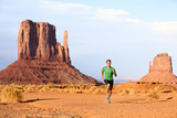 Runner Running Man Sprinting in Monument Valley Athlete Runner Cross Country Trail Running Outdoo