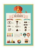 Dogs Infographics - Vector Illustration and Icon Set Giclée premium par Marish