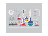 Chemistry Infographic Giclée premium par Marish