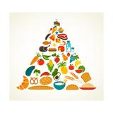 Health Food Pyramid Giclée premium par Marish
