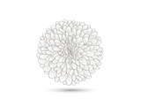Hand-Drawn Flower Chrysanthemum. Element For Design. Abstract Floral Background Giclée premium par Helga Pataki