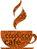 Cup Of Coffee Made From Typography Giclée premium par Marish