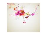 Beautiful Fashion Women With Abstract Design Elements Giclée premium par Artant