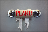 Empty Roll Of Toilet Paper With The Phrase Plan B  Concept For Alternative Planning