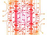 Illustration of Computer Circuit Board Giclée premium par Oriontrail2