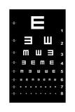 Eye Test Chart - White on Black Giclée premium par Oriontrail2