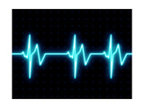 Modern Heart Beat ECG Graph Giclée premium par Oriontrail2