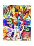 jug with flowers,2017 Reproduction d'art par Alex Caminker