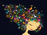 Beautiful Women - Abstract Hair Illustration
