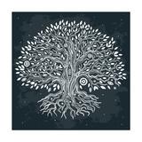 Beautiful Vintage Hand Drawn Tree of Life Giclée premium par Transiastock