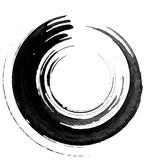 Black Calligraphic Brush Tableau sur toile par Oriontrail2