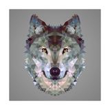 Wolf Low Poly Portrait