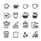 Coffee Icons Reproduction d'art par Pking4th