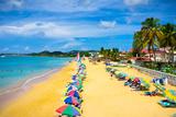 Beautiful Beach in Saint Lucia  Caribbean Islands