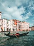Venetian Gondolier Punts Gondola in Venice  Italy