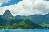 Paradise View of Moorea Islands  Cook's Bay  French Polynesia