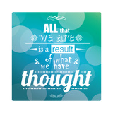 Quote, Inspiration Message, Typographic Background Giclée premium par BlueLela