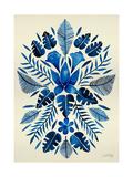 Navy Tropical Symmetry Reproduction d'art par Cat Coquillette