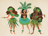 Luau Girls Beige Reproduction d'art par Cat Coquillette