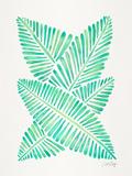 Seafoam Banana Leaves Reproduction d'art par Cat Coquillette