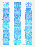 Turquoise Ombre Tiki Totems