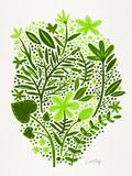 Lime Garden Reproduction d'art par Cat Coquillette