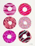 Magenta Donuts Reproduction d'art par Cat Coquillette