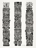 Black Tiki Totems