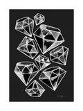 White Tattoo Diamonds Reproduction d'art par Cat Coquillette