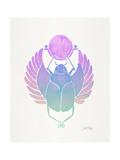 Purple Scarab Reproduction d'art par Cat Coquillette