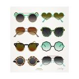 Mint Tan Sunglasses Giclée premium par Cat Coquillette