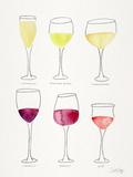 Wine Glasses Reproduction d'art par Cat Coquillette