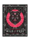 Pink Wolf Reproduction d'art par Cat Coquillette