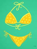 Yellow Bikini Mint Reproduction d'art par Cat Coquillette