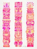 Pink Tiki Totems
