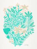 Mint Garden Reproduction d'art par Cat Coquillette