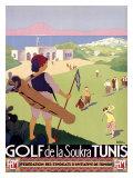 Golf de la Soukra, Tunis Giclée par Roger Broders