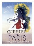 Grandes fêtes de Paris Giclée par Adolphe Mouron Cassandre