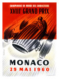 Championnat du Monde des Conducteurs, XVIIIe Grand Prix de Monaco de Formule 1, 1960 (affiche) Giclée par Jose Lorenzi