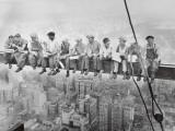 Déjeuner au sommet d'un gratte-ciel, 1932 Reproduction d'art par Charles C. Ebbets