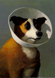 Chien à collerette Reproduction d'art par Michael Sowa