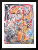 Figure 0 à 9, 1961 Reproduction encadrée par Jasper Johns