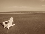 Lone Chair on Empty Beach
