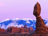 Balanced Rock and Snowy Mountains