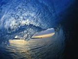 Dans le creux de la vague Papier Photo par David Pu'u