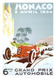 Monaco - 1934 Reproduction d'art par Geo Ham