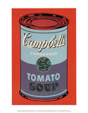Campbell's Soup Can, 1965 (Blue and Purple) Reproduction d'art par Andy Warhol