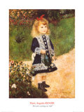 Fillette à l'arrosoir Reproduction d'art par Pierre-Auguste Renoir