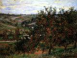 Apple Trees in Bloom at Vetheuil, c.1887 Reproduction d'art par Claude Monet