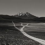 Dirt Road Leading to Mountains